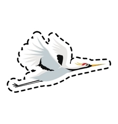 Isolated bird of china design vector