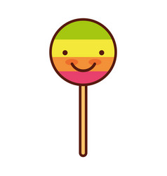 isolated lollipop candy on stick vector image