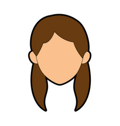 isolated young woman face vector image