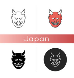 Japanese mask icon vector