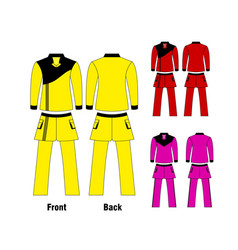 long gymnastics clothes vector image