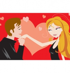 Love and attraction vector