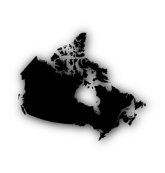 map of canada with shadow vector image