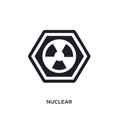 nuclear isolated icon simple element from signs vector image