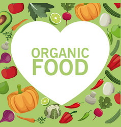 Organic food fresh harvest image vector