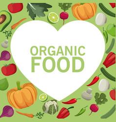 Organic food fresh harvest image vector