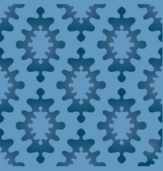 oriental abstract ornament seamless pattern blue vector image