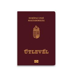Passport hungary vector