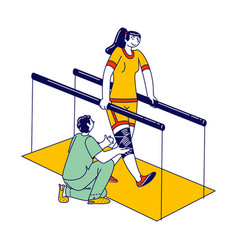 Physical development for handicapped people vector
