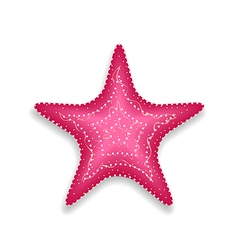 Pink starfish isolated on white background vector image