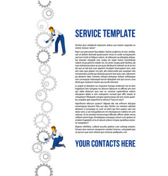 Poster template for autoservice vector