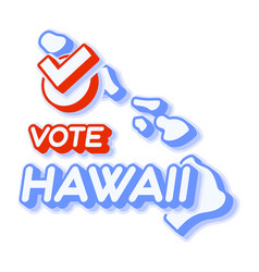 presidential vote in hawaii usa 2020 state map vector image