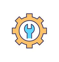 Preventive maintenance rgb color icon vector