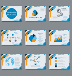 professional business presentation slide show vector image