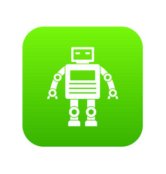 robot icon digital green vector image