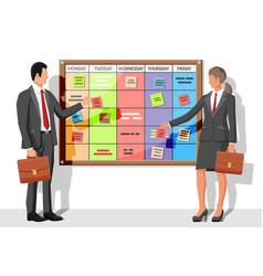 Scrum agile board business people vector
