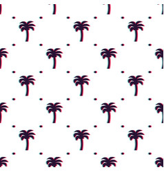 seamless glitched tropical pattern with vector image