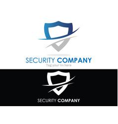 Security shield logo vector