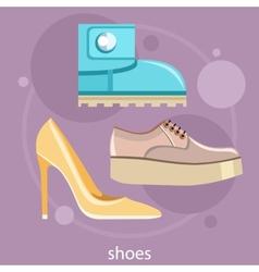 set different shoes vector image