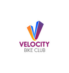 sign bike club vector image