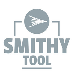 Smithy tool logo simple gray style vector