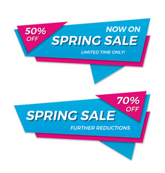 Spring sale label price tag banner badge template vector