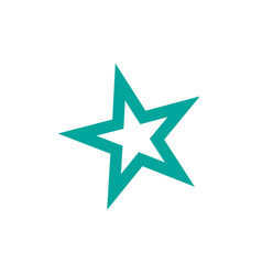 star icon rank star trendy flat design star web vector image