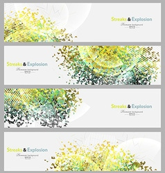 Streaks and explosion banner set vector image