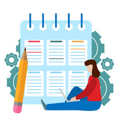 Successful completion of business tasks checklist vector