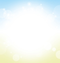 summer background - soft colored blur of sea sky vector image