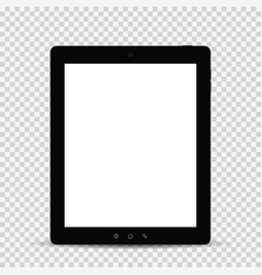 tablet with shadow isolated vector image