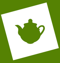 Tea maker sign white icon obtained as a vector