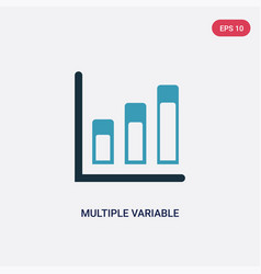 two color multiple variable bars data icon from vector image