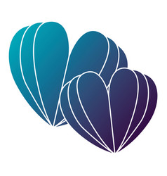 two hearts love card vector image