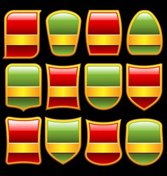 various shape badges set vector image