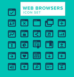 web browsers icon set vector image