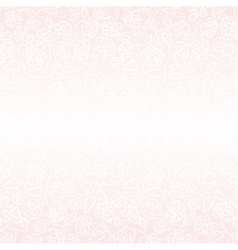 White flower pattern on pink background vector image