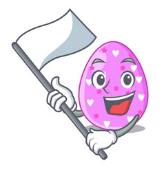 with flag color the easter eggs isolated mascot vector image