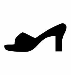 woman shoe dark silhouette vector image