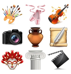 Art icons set vector image vector image