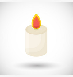 candle flat icon vector image vector image