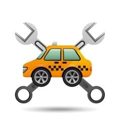 car taxi tools repair icon design vector image