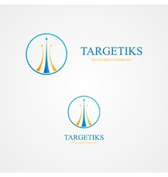 Logo with three colorful arrows vector image