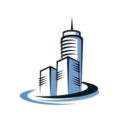 Modern skyscraper vector image vector image