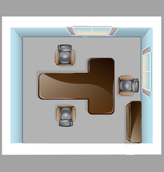 conference room top view vector image vector image