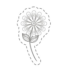 daisy flower decoration cut line vector image vector image