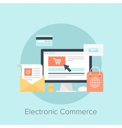 Electronic Commerce vector image vector image