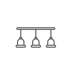 lamps isolated icon in linear style vector image