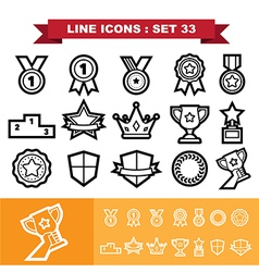 Line icons set 33 vector image vector image