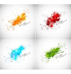 Set of grunge backgrounds vector image vector image